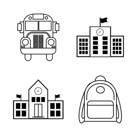 school class: Back to school season design, vector illustration eps10. Illustration