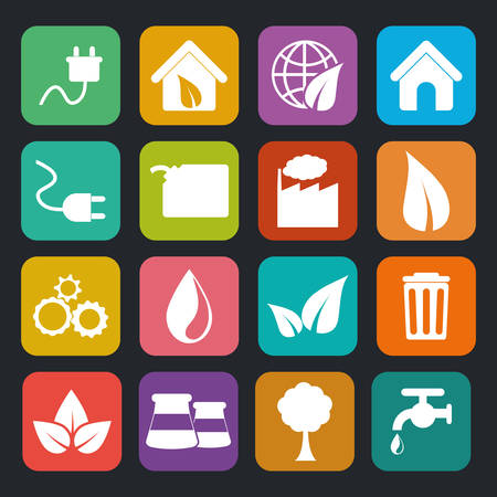 Go green ecology theme design, vector illustration. Illustration