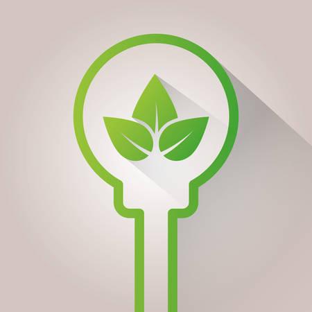 protection concept: Go green ecology theme design, vector illustration. Illustration