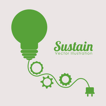 sustain: Go green ecology theme design, vector illustration. Illustration