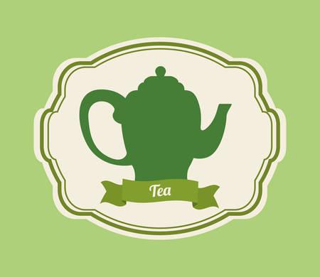 tea kettle: Tea time concept with tea kettle design, vector illustration 10 eps graphic. Illustration