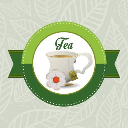 afternoon: Tea time concept with tea cup design, vector illustration 10 eps graphic.