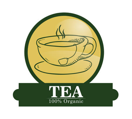 tea time: Tea time concept with tea cup design, vector illustration 10 eps graphic.