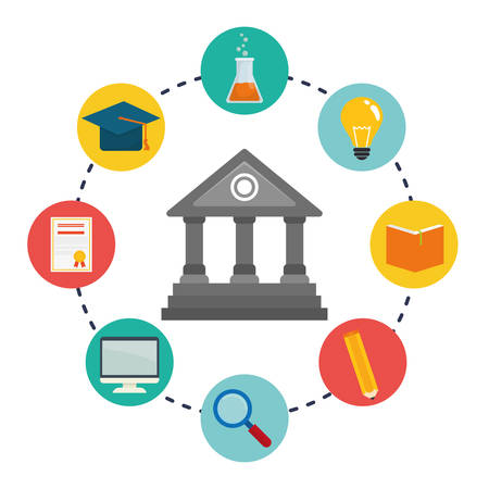 internet search: Education and elearning graphic design, vector illustration. Illustration