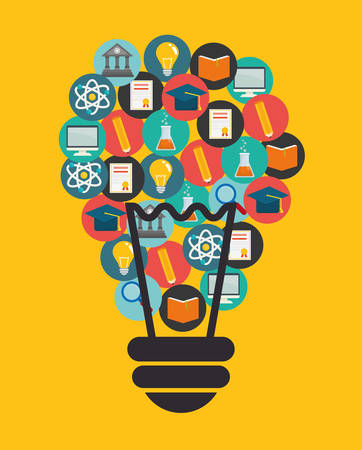 creative communication: Education and elearning graphic design, vector illustration. Illustration