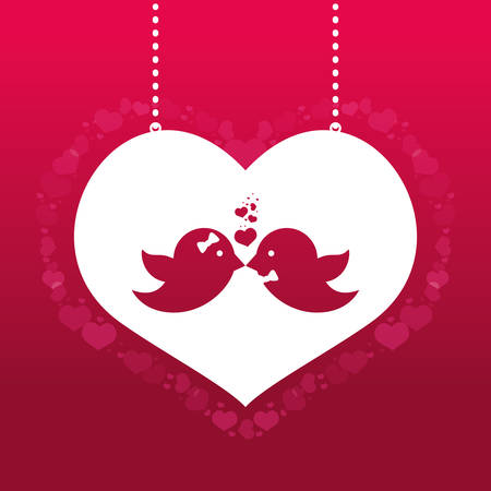 love bird: Save the date colorful card design, vector graphic.