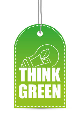 green bulb: Go green and ecology design, vector illustration graphic.