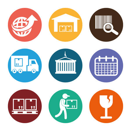 codebar: Logistics and delivery icons, vector illustration graphic .