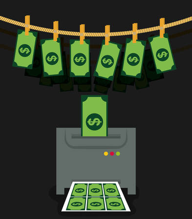 bestechung: Money fraud and hacking design, vector illustration. Illustration