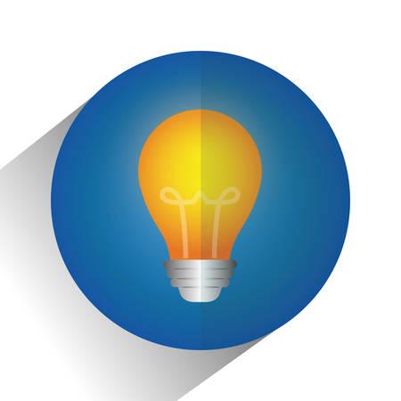 eureka: Big ideas graphic design, vector illustration. lightbulb icon
