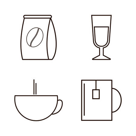 nutriments: Coffee drink and shop icons design, vector illustration.