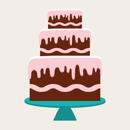 birthday cake: Birthday cake and desserts icon design, vector illustration.