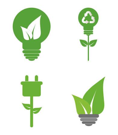 environmental contamination: Green ecology energy design, vector illustration graphic