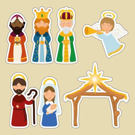 angel cartoon: Christmas season cartoon graphic design, vector illustration. Illustration