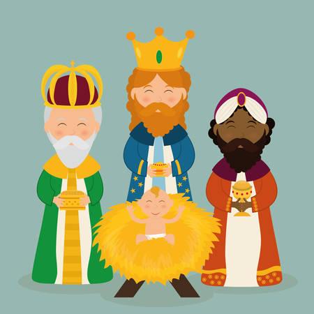the season: Christmas season cartoon graphic design, vector illustration. Illustration