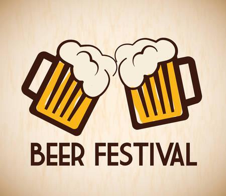 botellas de cerveza: Cerveza bar y dise�o anuncio alcohol, ilustraci�n vectorial Vectores