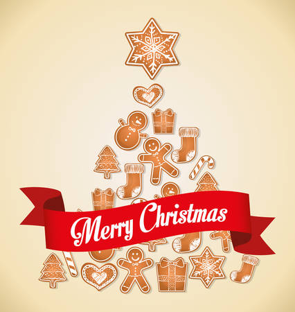botas de navidad: Tarjeta de colorido diseño gráfico Feliz Navidad, ilustración vectorial.