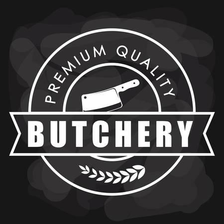 deli: Butchery or butcher theme design, vector illustration graphic Illustration