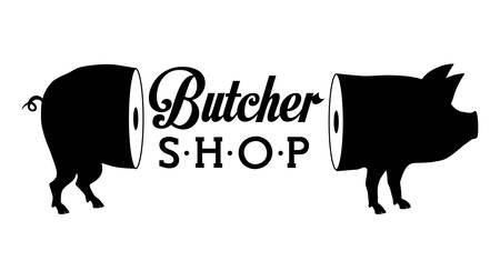 deli meat: Butchery or butcher theme design, vector illustration graphic Illustration