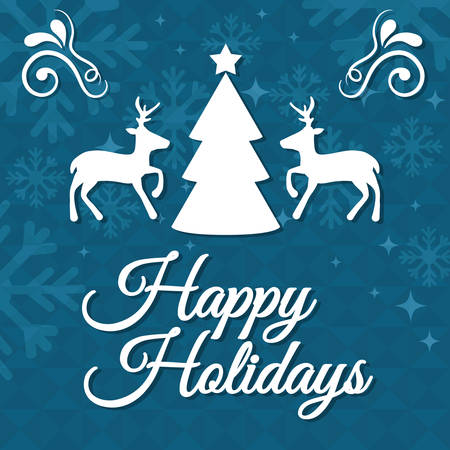 happy holidays: Happy holidays and merry christmas card design, vector illustration.