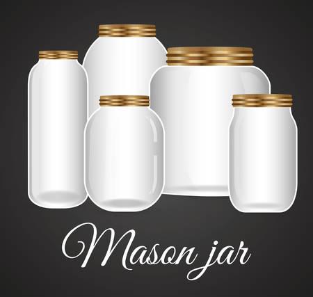 Jar metselaar mode glazen ontwerp, vectorillustratie eps10
