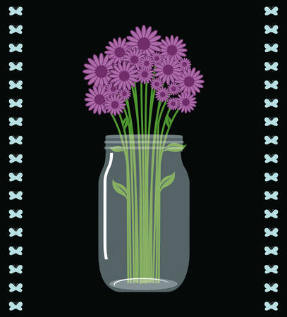 mason: Jar mason fashion glass design, vector illustration eps10