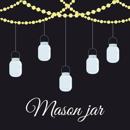 Jar mason fashion glass design, vector illustration eps10