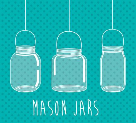 canning: Jar mason fashion glass design, vector illustration eps10