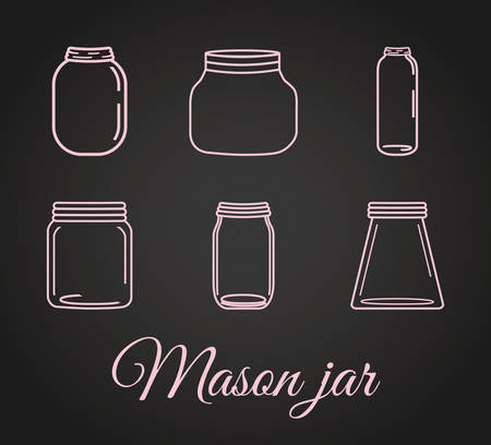 glass jar: Jar mason fashion glass design, vector illustration eps10