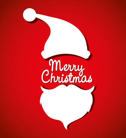christmas postcard: Merry christmas colorful card graphic design, vector illustration.