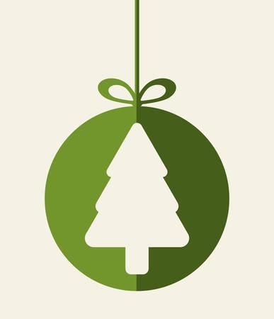 etiqueta: Tarjeta de colorido dise�o gr�fico Feliz Navidad, ilustraci�n vectorial.