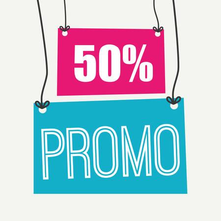 Shopping promo label tag graphic design, vector illustration.