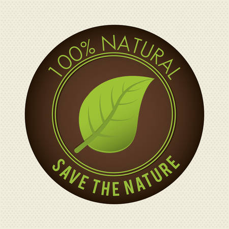 turismo ecologico: Excepto la naturaleza diseño ecología etiqueta, ilustración vectorial eps10