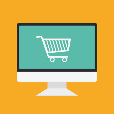 Shopping and ecommerce graphic design with icons, vector illustration. Illustration