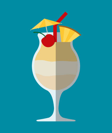 juice glass: Cocktail glass cup and party club lifestyle, vector illustration graphic
