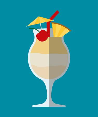vaso de jugo: vaso de vidrio de cóctel y fiesta el estilo de vida del club, ejemplo gráfico del vector