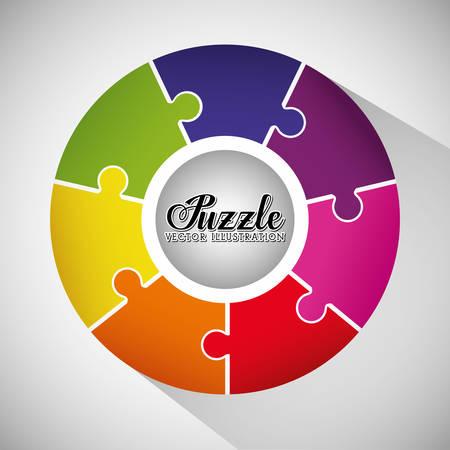 Puzzleteile und große Ideen Design, Vektor-Illustration, Grafik,
