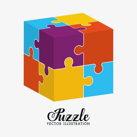 puzzles pieces: Puzzle pieces and big ideas design, vector illustration graphic