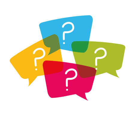 Question and solutions icon design, vector illustration graphic Illustration