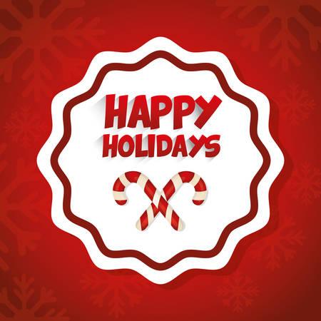 Fijne feestdagen en vrolijke kerst kaart ontwerp, vector afbeelding. Stock Illustratie