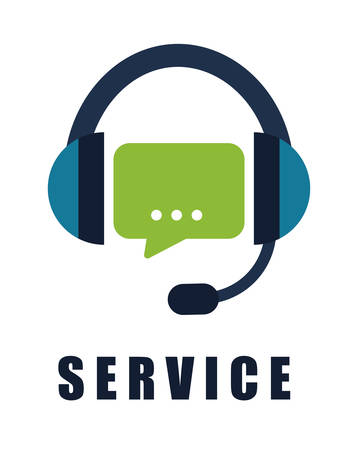 business service: Customer service and call center graphic design, vector illustration