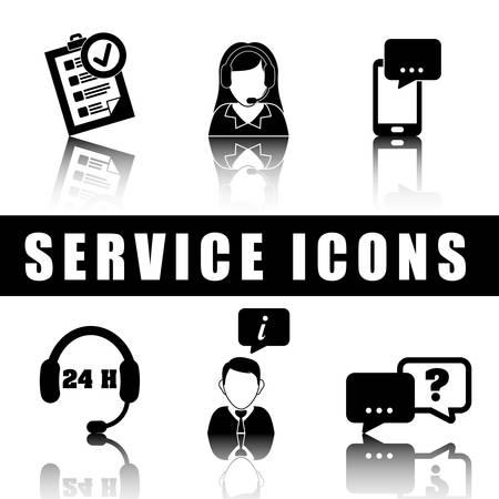servicio al cliente: Atención al cliente y centro de llamadas de diseño gráfico, ilustración vectorial