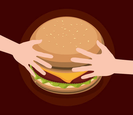 consume: Fast food concept with hamburger design, vector illustration 10 eps graphic Illustration