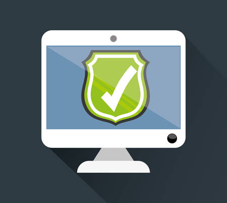 value system: Security System  concept with online icons design, vector illustration 10 eps graphic