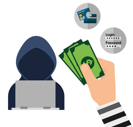 credit risk: Security System  concept with online icons design, vector illustration 10 eps graphic