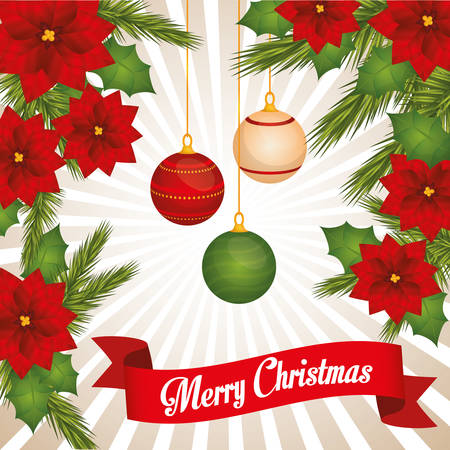 christmas concept: Merry Christmas concept with decoration icons design, vector illustration 10 eps graphic