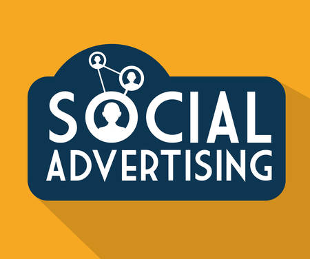 interaccion social: Concepto de publicidad social con diseño de marketing digital, ilustración vectorial eps 10 gráfico Vectores