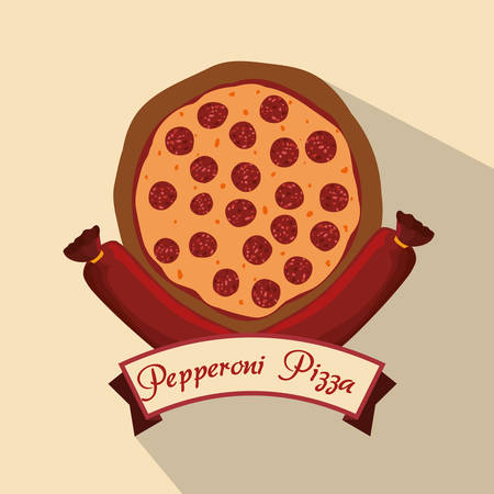 consume: Food concept with pizza ingredients design, vector illustration 10 eps graphic