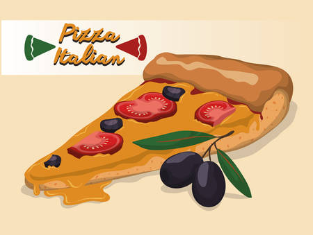 pizza ingredients: Food concept with pizza ingredients design, vector illustration 10 eps graphic
