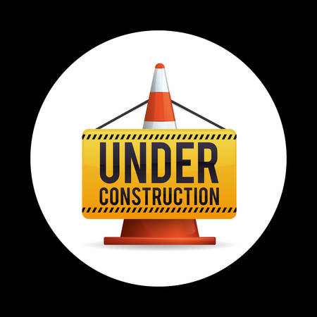 under construction road sign: Under construction concept with tools icons design, vector illustration 10 eps graphic